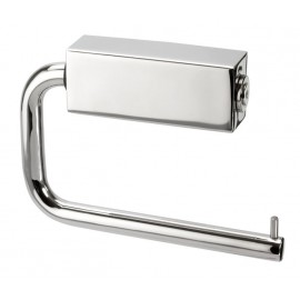 Toilet Cubicle Toilet Roll Holder with Polished Stainless Steel Finish