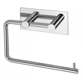 Toilet Cubicle Stick On Toilet Roll Holder with Polished Stainless Steel Finish