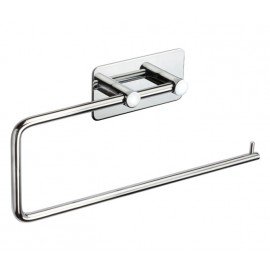 Stick On Towel Rail for Cubicles with Polished Stainless Steel Finish