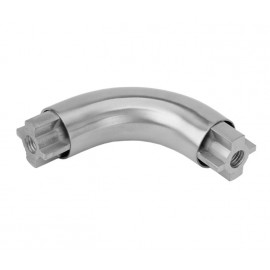 Satin Stainless Steel Tubular Headrail Curved Corner Joint