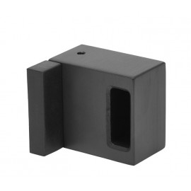Matte Black Cubicle Lock Keep with Buffer for 20mm Partition