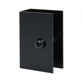 Matte Black Cubicle U Bracket for 20mm Partition