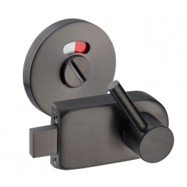Matte Black Disabled Toilet Door Lock with Emergency Release R/H