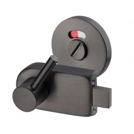 Matte Black Disabled Toilet Lock with Emergency Release L/H