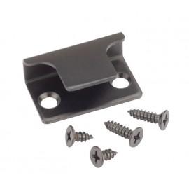 Matte Black Door Lock Keep for Cubicles 13mm & 20mm Board