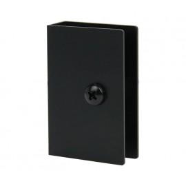 Matte Black Square Cubicle U Bracket for 13mm Partition