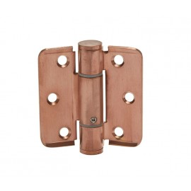 Spring Loaded Hinges Adjustable in Brushed Copper Finish
