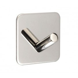 Stick On Cubicle Coat Hook with Polished Stainless Steel Finish