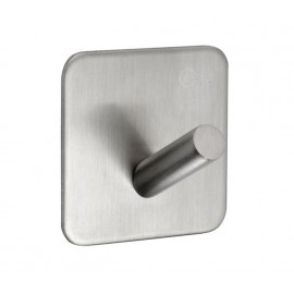 Self Adhesive Coat Hooks in Satin Stainless Steel