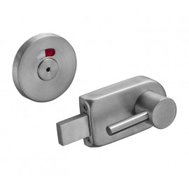Toilet Cubicle Lock with Indicator and Hexagonal Key Release