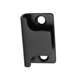 Matte Black Cubicle Lock Keep U Shaped for 13mm to 20mm Board