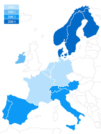 Europe Delivery Map
