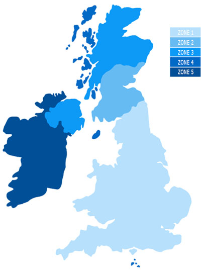 United Kingdom Delivery Map